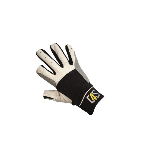 c4s Cruising Segelhandschuhe - 2 Finger geschnitten, schwarz