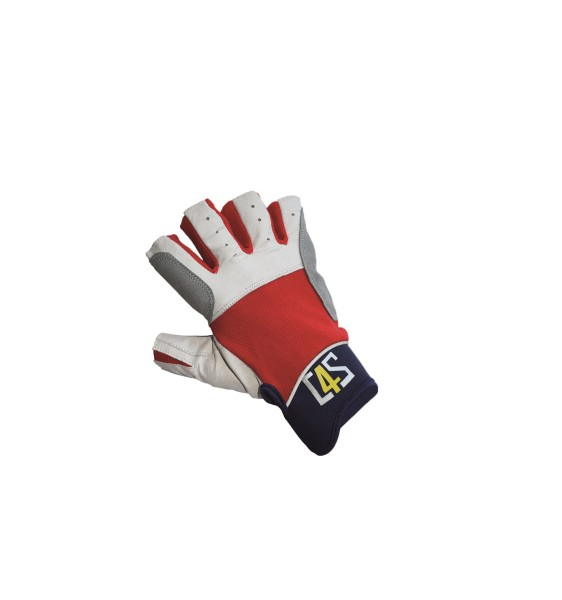 c4s Regatta Segelhandschuhe - 5 Finger geschnitten, rot