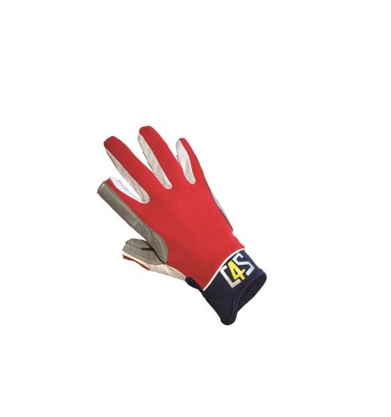 c4s Offshore Segelhandschuhe - 2 Finger geschnitte - Rot