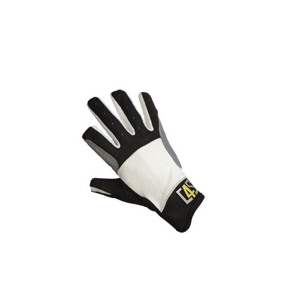 c4s Cruising Segelhandschuhe - 2 Finger geschnitten, weiß