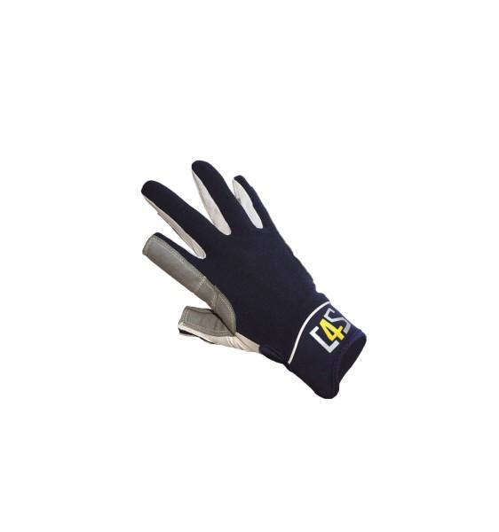 c4s Offshore Segelhandschuhe - 2 Finger geschnitten, navy
