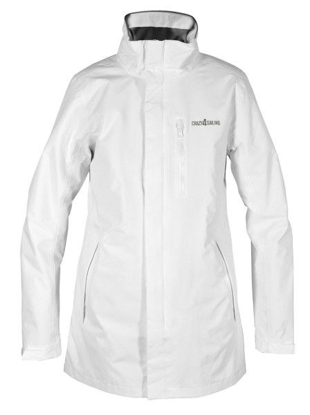 C4S Brighton Ladies Jacket Long, white