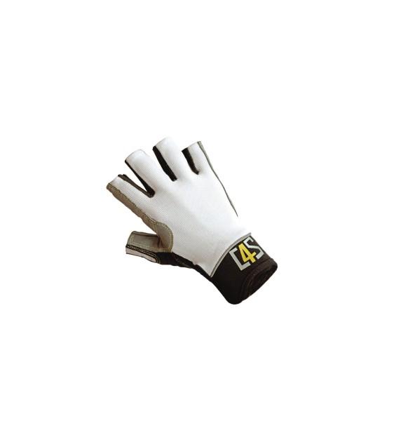 c4s Racing Segelhandschuhe - 5 Finger geschnitten, weiß