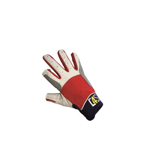 c4s Cruising Segelhandschuhe - 2 Finger geschnitten, rot